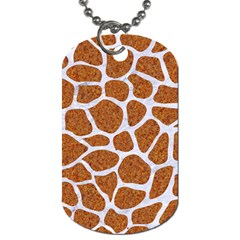 Skin1 White Marble & Rusted Metal (r) Dog Tag (one Side) by trendistuff