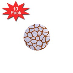 Skin1 White Marble & Rusted Metal 1  Mini Magnet (10 Pack)  by trendistuff