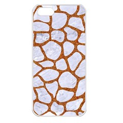 Skin1 White Marble & Rusted Metal Apple Iphone 5 Seamless Case (white) by trendistuff