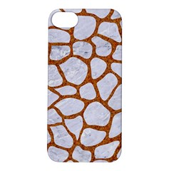 Skin1 White Marble & Rusted Metal Apple Iphone 5s/ Se Hardshell Case by trendistuff