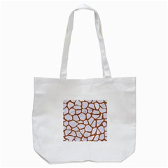Skin1 White Marble & Rusted Metal Tote Bag (white) by trendistuff