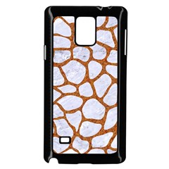 Skin1 White Marble & Rusted Metal Samsung Galaxy Note 4 Case (black) by trendistuff