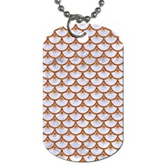 Scales3 White Marble & Rusted Metal (r) Dog Tag (two Sides) by trendistuff