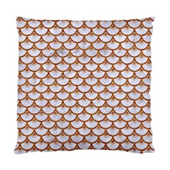 Scales3 White Marble & Rusted Metal (r) Standard Cushion Case (two Sides) by trendistuff