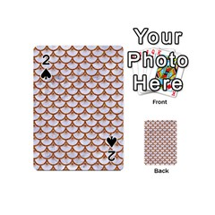 Scales3 White Marble & Rusted Metal (r) Playing Cards 54 (mini)  by trendistuff