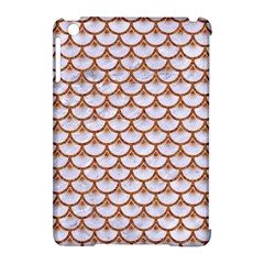 Scales3 White Marble & Rusted Metal (r) Apple Ipad Mini Hardshell Case (compatible With Smart Cover) by trendistuff