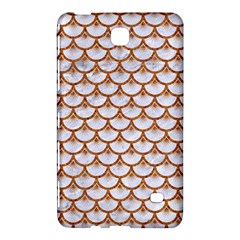 Scales3 White Marble & Rusted Metal (r) Samsung Galaxy Tab 4 (7 ) Hardshell Case  by trendistuff