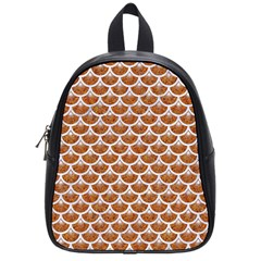 Scales3 White Marble & Rusted Metal School Bag (small) by trendistuff
