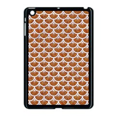 Scales3 White Marble & Rusted Metal Apple Ipad Mini Case (black) by trendistuff