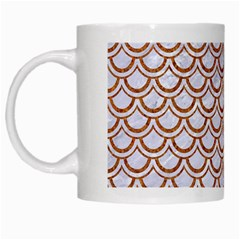Scales2 White Marble & Rusted Metal (r) White Mugs by trendistuff