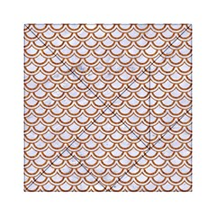 Scales2 White Marble & Rusted Metal (r) Acrylic Tangram Puzzle (6  X 6 ) by trendistuff