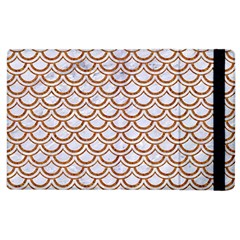 Scales2 White Marble & Rusted Metal (r) Apple Ipad 3/4 Flip Case by trendistuff