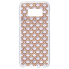 Scales2 White Marble & Rusted Metal (r) Samsung Galaxy S8 White Seamless Case by trendistuff