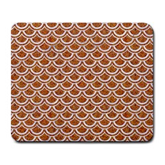 Scales2 White Marble & Rusted Metal Large Mousepads by trendistuff