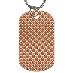 Scales2 White Marble & Rusted Metal Dog Tag (two Sides) by trendistuff