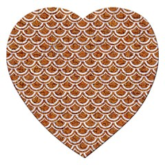 Scales2 White Marble & Rusted Metal Jigsaw Puzzle (heart) by trendistuff