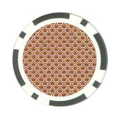 Scales2 White Marble & Rusted Metal Poker Chip Card Guard by trendistuff