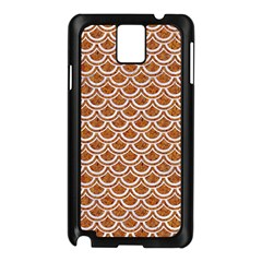 Scales2 White Marble & Rusted Metal Samsung Galaxy Note 3 N9005 Case (black) by trendistuff