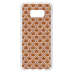 Scales2 White Marble & Rusted Metal Samsung Galaxy S8 Plus White Seamless Case by trendistuff