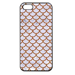 Scales1 White Marble & Rusted Metal (r) Apple Iphone 5 Seamless Case (black) by trendistuff