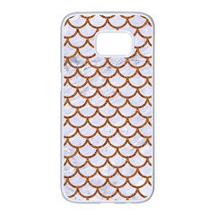 Scales1 White Marble & Rusted Metal (r) Samsung Galaxy S7 Edge White Seamless Case by trendistuff