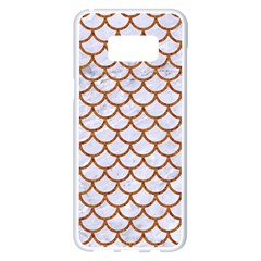 Scales1 White Marble & Rusted Metal (r) Samsung Galaxy S8 Plus White Seamless Case by trendistuff