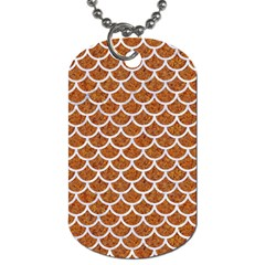 Scales1 White Marble & Rusted Metal Dog Tag (two Sides) by trendistuff