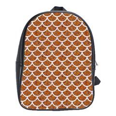 Scales1 White Marble & Rusted Metal School Bag (large) by trendistuff