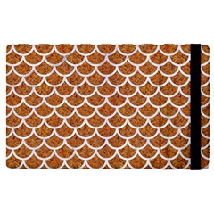 Scales1 White Marble & Rusted Metal Apple Ipad Pro 12 9   Flip Case by trendistuff