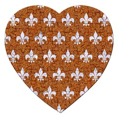 Royal1 White Marble & Rusted Metal (r) Jigsaw Puzzle (heart) by trendistuff