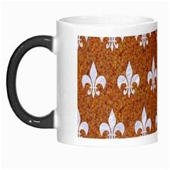 Royal1 White Marble & Rusted Metal (r) Morph Mugs by trendistuff