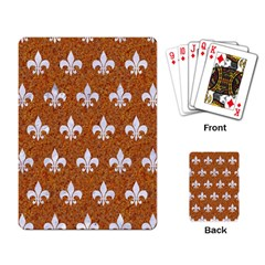 Royal1 White Marble & Rusted Metal (r) Playing Card by trendistuff