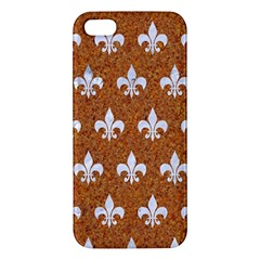 Royal1 White Marble & Rusted Metal (r) Apple Iphone 5 Premium Hardshell Case by trendistuff