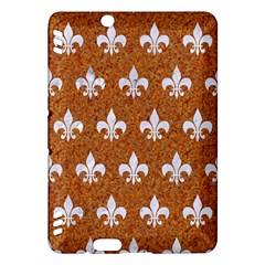 Royal1 White Marble & Rusted Metal (r) Kindle Fire Hdx Hardshell Case by trendistuff
