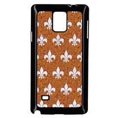 Royal1 White Marble & Rusted Metal (r) Samsung Galaxy Note 4 Case (black) by trendistuff