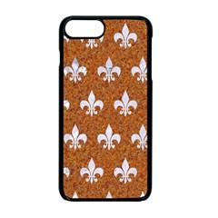 Royal1 White Marble & Rusted Metal (r) Apple Iphone 7 Plus Seamless Case (black) by trendistuff