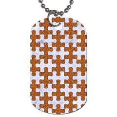 Puzzle1 White Marble & Rusted Metal Dog Tag (two Sides) by trendistuff
