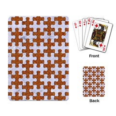 Puzzle1 White Marble & Rusted Metal Playing Card by trendistuff