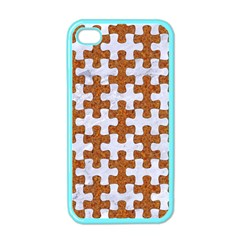 Puzzle1 White Marble & Rusted Metal Apple Iphone 4 Case (color) by trendistuff
