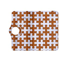 Puzzle1 White Marble & Rusted Metal Kindle Fire Hdx 8 9  Flip 360 Case by trendistuff