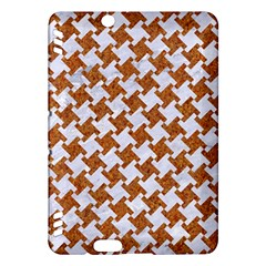 Houndstooth2 White Marble & Rusted Metal Kindle Fire Hdx Hardshell Case by trendistuff