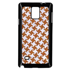 Houndstooth2 White Marble & Rusted Metal Samsung Galaxy Note 4 Case (black) by trendistuff