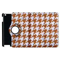 Houndstooth1 White Marble & Rusted Metal Apple Ipad 2 Flip 360 Case by trendistuff