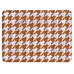 Houndstooth1 White Marble & Rusted Metal Samsung Galaxy Tab 7  P1000 Flip Case by trendistuff