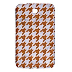 Houndstooth1 White Marble & Rusted Metal Samsung Galaxy Tab 3 (7 ) P3200 Hardshell Case  by trendistuff