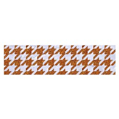 Houndstooth1 White Marble & Rusted Metal Satin Scarf (oblong) by trendistuff