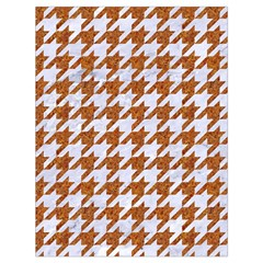 Houndstooth1 White Marble & Rusted Metal Drawstring Bag (large) by trendistuff