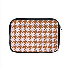 Houndstooth1 White Marble & Rusted Metal Apple Macbook Pro 15  Zipper Case by trendistuff