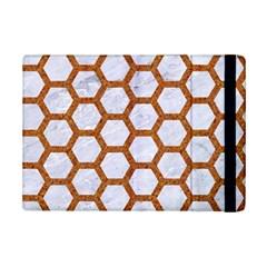 Hexagon2 White Marble & Rusted Metal (r) Ipad Mini 2 Flip Cases by trendistuff