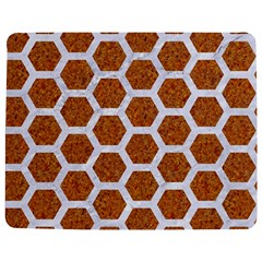 Hexagon2 White Marble & Rusted Metal Jigsaw Puzzle Photo Stand (rectangular) by trendistuff